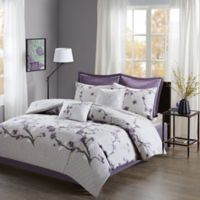 Madison Park Holly California King Comforter Set in Purple