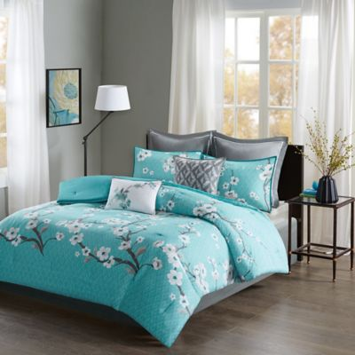 Madison Park Holly Queen Comforter Set In Teal