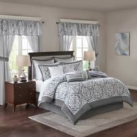 Madison Park Essentials Jordan 24-Piece Queen Comforter Set in Grey