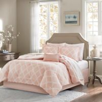 Madison Park Essentials Merritt 7-Piece Reversible Twin XL Comforter Set in Blush