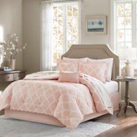 Madison Park Essentials Merritt 9-Piece Reversible California King Comforter Set in Blush