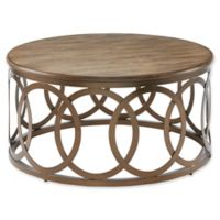 Madison Park Fraser Round Coffee Table in Bronze
