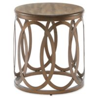 Madison Park Fraser Round End Table in Bronze