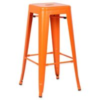 Poly and Bark Trattoria Bar Stool in Orange