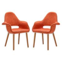 Poly And Bark Dining Wood Chair in Orange (Set of 2)