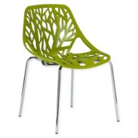Poly and Bark Birds Nest Dining Side Chair in Green