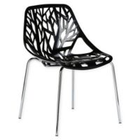 Poly and Bark Birds Nest Dining Side Chair in Black