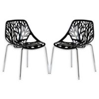Poly And Bark Birds Nest Dining Side Chair in Black (Set of 2)