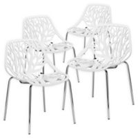Poly And Bark Dining Chair in White (Set of 4)