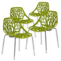 Poly And Bark Dining Chair in Green (Set of 4)