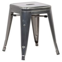Poly and Bark Trattoria 18-Inch Stool in Gunmetal