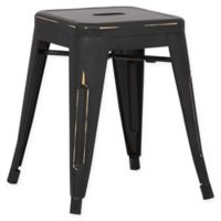 Poly and Bark Trattoria 18-Inch Stool in Distressed Black