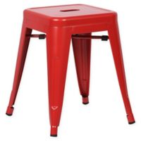 Poly and Bark Trattoria 18-Inch Stool in Red