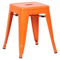 Poly and Bark Trattoria 18-Inch Stool in Orange