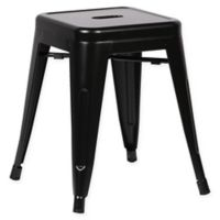 Poly and Bark Trattoria 18-Inch Stool in Black
