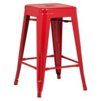 Poly and Bark Trattoria 24-Inch Counter Height Stool in Red