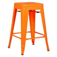 Poly and Bark Trattoria 24-Inch Counter Height Stool in Orange