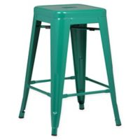 Poly and Bark Trattoria 24-Inch Counter Height Stool in Dark Green