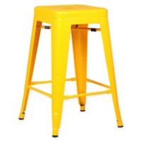 Poly and Bark Trattoria 24-Inch Counter Height Stool in Yellow