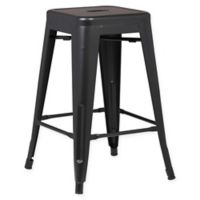 Poly and Bark Trattoria 24-Inch Counter Height Stool in Black