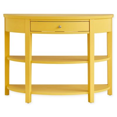 Exceptional Verona Home Vilamoura 1 Drawer Console Table In Yellow