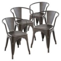 Poly And Bark Dining Iron Chair in Bronze (Set of 4)