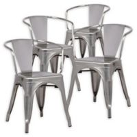 Poly And Bark Dining Iron Chair in Gunmetal (Set of 4)