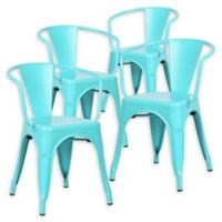 Poly And Bark Dining Iron Chair in Aqua (Set of 4)
