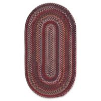 Capel Rugs Bunker Hill Braided 1-Foot 8-Inch x 2-Foot 6-Inch Oval Accent Rug in Red