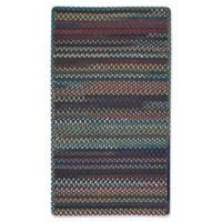 Capel Rugs Bunker Hill Braided 2-Foot 3-Inch x 4-Foot Rectangular Accent Rug in Dark Navy