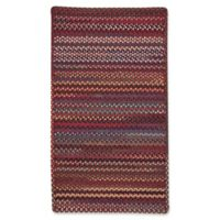 Capel Rugs Bunker Hill Braided 2-Foot 3-Inch x 4-Foot Rectangular Accent Rug in Red