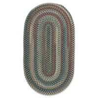 Capel Rugs Bunker Hill Braided 3-Foot x 5-Foot Oval Area Rug in Leaf Green