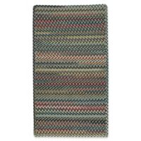 Capel Rugs Bunker Hill Braided 3-Foot x 5-Foot Rectangular Area Rug in Leaf Green