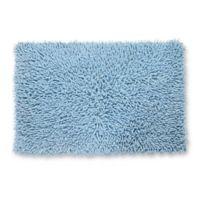 Castle Hill London Chenille Shaggy 20-Inch x 30-Inch Bath Rug in Light Blue