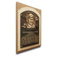 MLB St. Louis Cardinals Enos Slaughter That's My Ticket Hall of Fame Canvas Plaque