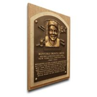 MLB Newark Eagles Monte Irvin That's My Ticket Hall of Fame Canvas Plaque