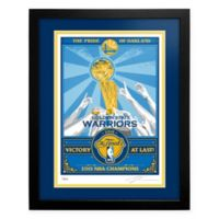 NBA Golden State Warriors Stephen Curry 2015 NBA Champs My Ticket Serigraph with Frame