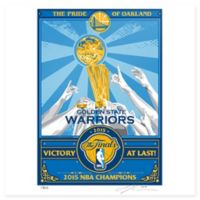 NBA Golden State Warriors Stephen Curry 2015 NBA Champs That's My Ticket Serigraph