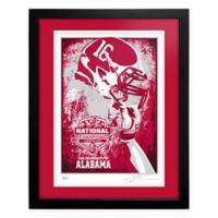 University of Alabama 2015 Football National Champions Framed Serigraph