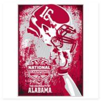 University of Alabama 2015 Football National Champions Serigraph