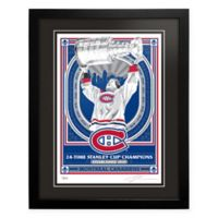 NHL Montreal Canadiens 24-Time NHL Champions Framed Serigraph