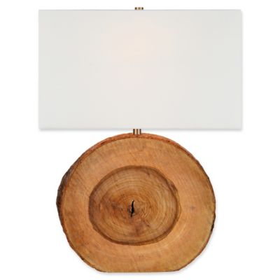 Elixa Wood Table Lamp With Softback Shade In Light Cream