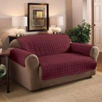 Innovative Textile Solutions Microfiber Loveseat Protector in Burgundy