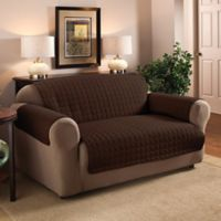 Innovative Textile Solutions Microfiber Loveseat Protector in Chocolate