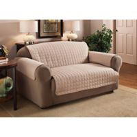 Innovative Textile Solutions Microfiber Loveseat Protector in Natural