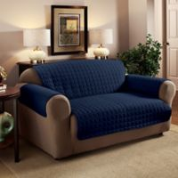 Innovative Textile Solutions Microfiber Loveseat Protector in Navy