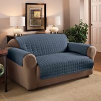 Innovative Textile Solutions Microfiber Loveseat Protector in Slate Blue
