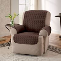 Innovative Textile Solutions Microfiber Recliner Protector in Chocolate