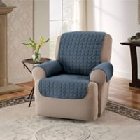 Innovative Textile Solutions Microfiber Recliner Protector in Slate Blue