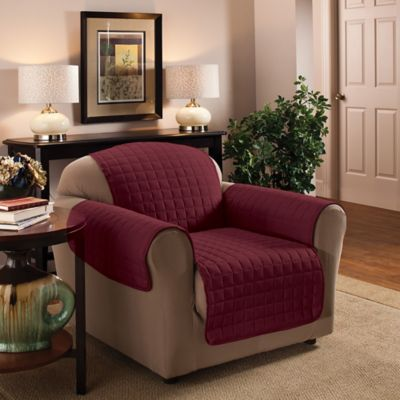 Innovative Textile Solutions Microfiber Chair Protector In Burgundy